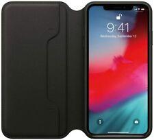 Apple Leder Folio Iphone Xs MAX Case Hülle Tasche Schutz Schwarz MRX22ZM/A