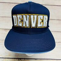 Denver Nuggets NBA Adidas Logo Under Brim Snapback Cap Hat Navy Blue NWOT