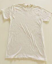 Vintage 1980s Plain Blank White T-shirt Tee Shirt Workwear Small Tshirt