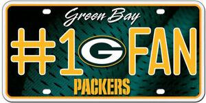 NFL Brett Favre Green Bay Packers # 1 Fan Custom License Plate