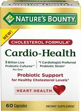 Nature Bounty Cardio Health Probiotics Support Cholesterol Level 120 cap exp5/19