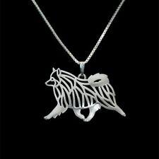 Keeshond Charm Pendant Necklace Dog Animal Gift 4 Choices