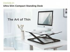 Height Adjustable Standing Desk,White Desktop Premium DWS08-01 Ultra Slim 12-Way