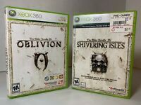 The Elder Scrolls IV Oblivion + Shivering Isles DLC Xbox 360 RPG Game Bundle Lot