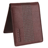 Men's Genuine Leather Bi fold Slim Brown Stylish Wallet Credit Card Coins Holder