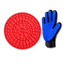 Dog Lick Mat - Distraction Device for Bath With Dog Glove