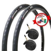 Hutchinson Nitro 2 Black Road Bike Tires & Presta Tubes  - 700 X 23C