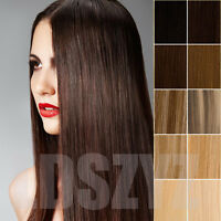 Thick Clip In Remy 100% Real Human Hair Extensions Full Head 16''20''24'' stock