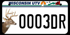 "5""X10"" UTV/ATV license Plate, 0003dr"