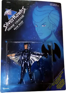 SilverHawks Steelheart™ w/Rayzor™ Figure Vintage 1986 Collectible New MOSC