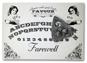 A4 Hand Finished Two Faced Ouija Board with Two-Faced Lady Planchette, Victorian