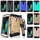 For LG K10 / Premier LTE Defender Armor Phone Cover Case + Belt Clip Holster
