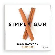 New listing Simply Gum Cinnamon Natural Chewing Gum - Non Gmo, Vegan, 6 Packs 90 Pieces