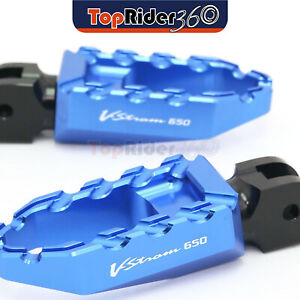 Red CNC 25mm Adjustable Riser Front Touring Foot Pegs For Suzuki DL 650 V-Strom 2004-2016