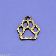 20pcs Vintage Bronze Alloy Dog Footprints Charms Pendants Crafts Findings 20*17