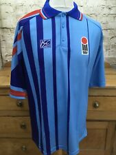 Vintage Hogger Sports World Series ISC England Cricket Shirt Blue Mens Small OG