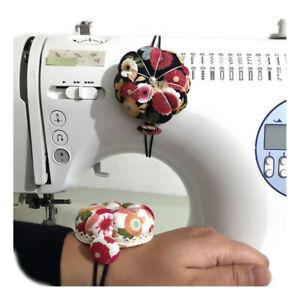 Handcraft Tool Needle Holder Sewing Pin Cushion Elastic Wrist Belt Sewing Kit R