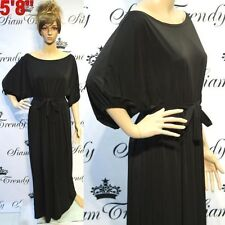 Little Black Solid Maxi Dresses for Women