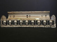 Skull and Bones Coffin Incense Burner Box w/Storage Compartment