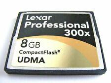 ,, 8GB Compact Flash Card 300x UDMA ( 8 GB CF ) LEXAR Professional gebraucht ,,