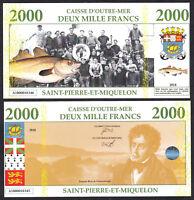 ★★ SAINT PIERRE ET MIQUELON : BILLET TEST POLYMER 2000 FRANCS ★