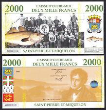 ★★★ SAINT PIERRE ET MIQUELON : BILLET TEST POLYMER 2000 FRANCS ★★