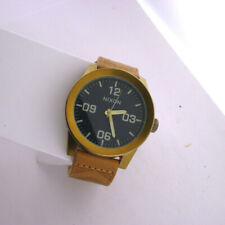 Nixon A243-2731 Corporal Mens Quartz Watch Stainless WR Date Brown Leather Band