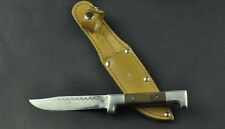 Vintage Bulgarian Hunting Knife with Leather Scabbard