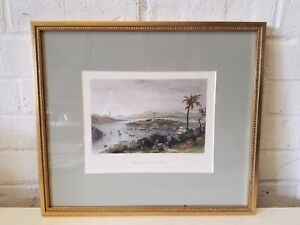 Whampoa from Dane's Island Colored Engraving W. A. Le Petif 1843 w/ Story Insert