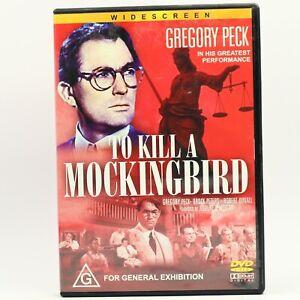 To Kill A Mockingbird Gregory Peck DVD R4 Movie Good Condition