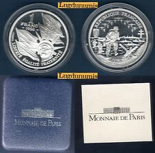 Coffret BE - 1 Franc Argent 1993 50e Anniversaie du Débarquement Allié