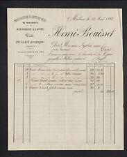 """MILLAU (12) USINE de GANTS DE PEAU / MEGISSERIE & LAINE """"Henri BOUISSET"""" en 1888"""