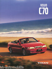Volvo C70 Cabriolet Prospekt 2000 1820-00 8 S. brochure Auto PKWs Autoprospekt