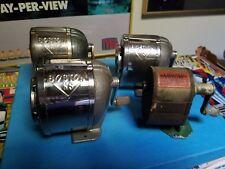 Lot of 4 VINTAGE pencil sharpeners - 3 Boston & 1 Arrow