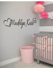 """PERSONALIZED HEARTS ANY NAME Vinyl Wall Art Decal Kids Children Nursery Room 36"""""""
