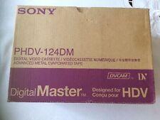 (Box of 10) NEW Sony PHDV-124DM Digital Master DVCAM Video Cassettes HDV Tapes