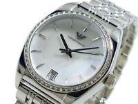 NEW EMPORIO ARMANI WHITE DIAL DIAMOND STAINLESS STEEL LADIES WATCH AR0379
