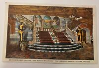 "Vintage CHICAGO Illinois Postcard ""Grand Stairway ARAGON BALLROOM"" Kropp c1930s"