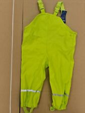 Lupilu Waterproof Dungarees Trousers boys girls 1-2 years Warm Rainy Day green