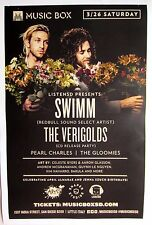 SWIMM / THE VERIGOLDS 2016 SAN DIEGO CONCERT TOUR POSTER-Psychedelic Dance Music
