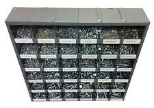 2540 Pcs Metric Class 109 Nut Bolt Amp Washer Assortment With Metal Bolt Bin