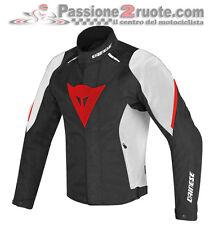 Giacca moto Dainese Laguna Seca D1 D-dry nero bianco rosso 858 impermeabile