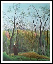 Henri Rousseau passeggiata nel bosco poster stampa d'arte con telaio in alluminio in 60x48cm