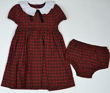 Ralph Lauren Baby Girl's Plaid Dress Size 12 Months