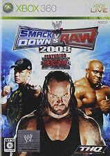 USED WWE Smackdown Vs. RAW 2008 Japan Import Xbox 360