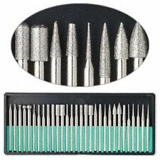 "30pc DREMEL DIAMOND BURR Bit Set Rotary Tools 400 Grit 1/8"" Shank Storage Case"