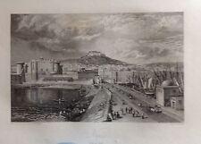 ITALIA. NAPLES, NAPOLI.GRABADO ORIGINAL DE HAKEWILL, 1820
