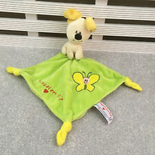 Woezel en Pip Green Puppy Dog Comforter Blanket Blankie Soother Hug Toy