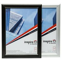 A1 A2 A3 A4 Sizes Aluminium Poster Certificate Snap Frame In Silver Or Black