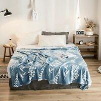 Portable Flannel Plaids Flower Season Super Soft Bedspread Blanket 200x230CM
